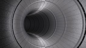 Fly through metallic tunnel,seamless loop, stock footage. Video stock footage