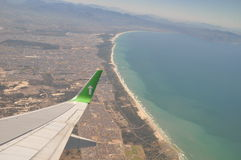 Fly over Cape town coastline South Africa royalty free stock photography