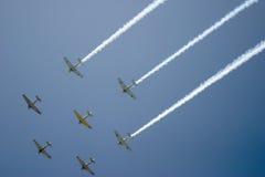 Fly-over de Squadron Fotos de archivo libres de regalías