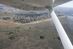 Fly over the Okavango Delta with Air Moremi Royalty Free Stock Images