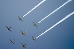 Fly-over by Squadron Royalty Free Stock Photos