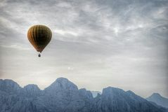 Fly over the Vang Vieng Royalty Free Stock Photography