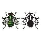 Fly parasite vector illustration Royalty Free Stock Photos