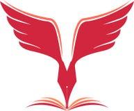 Fly pen logo Stock Photos