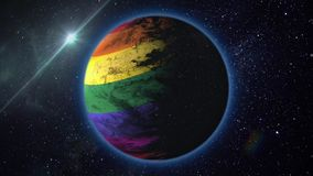 Fly the planet LGBT stock illustration