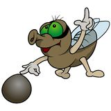 Fly Playing Marbles Royalty Free Stock Photography