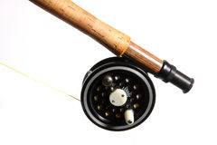 Fly reel and rod Royalty Free Stock Image