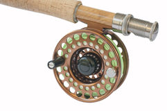 Fly Rod and Reel. Rod and reel for 5 weight fishing rod Royalty Free Stock Photography