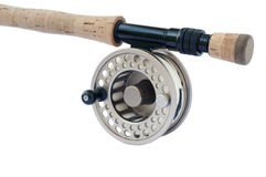 Fly Rod and Reel. Rod and reel for 8 wieght fishing rod Royalty Free Stock Photo