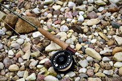 Fly rod with reel Royalty Free Stock Images