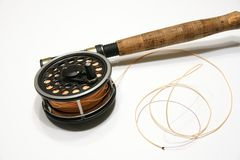 Fly rod and Reel Royalty Free Stock Photos