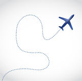 Fly routes and airplane. illustration design Stock Photo