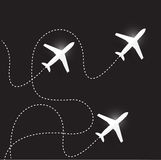Fly routes and airplanes. illustration design Stock Photo