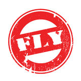 Fly rubber stamp Stock Photo
