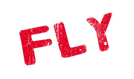 Fly rubber stamp Royalty Free Stock Image