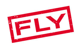 Fly rubber stamp Stock Photography