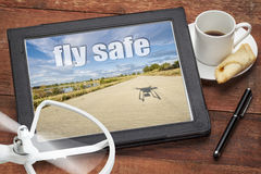 Fly safe concept or reminderr Royalty Free Stock Photography
