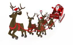 Fly santa Royalty Free Stock Photography