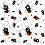 Fly seamless pattern. Vector illustration of fly pattern Stock Photography