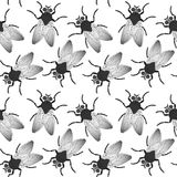 Fly seamless texture. Abstract pattern; vector art illustration; image contains transparency royalty free illustration