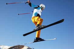 Fly ski man stock photo
