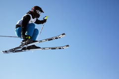 Fly ski woman Royalty Free Stock Photography