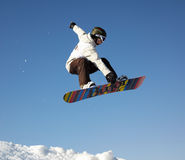 Fly snowboard man Stock Photos