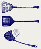 Fly swatter. Doodle style. Vector Royalty Free Stock Images