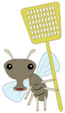 Fly and swatter Stock Image