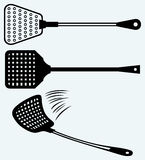 Fly swatter. Image isolated on blue background vector illustration