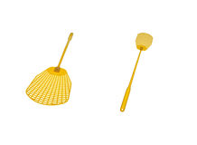 Fly swatter isolated with clipping patch Royalty Free Stock Photo