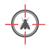 Fly on Target. Vector Illustration royalty free illustration