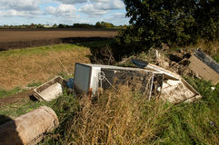 Fly tipping in the countryside Stock Photos