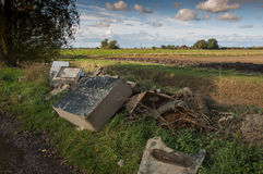 Fly tipping in the countryside Stock Photo