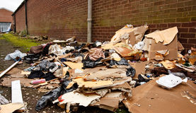 Fly tipping of refuse Royalty Free Stock Image