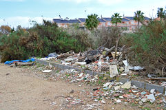 Fly Tipping Rubbish Dump. Rubbish dumped in a beautiful spot Royalty Free Stock Photography