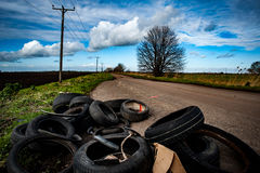 Fly tipping Royalty Free Stock Photo