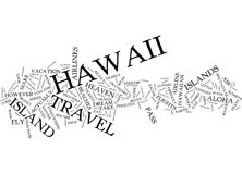 Fly To Hawaii Text Background Word Cloud Concept vector illustration