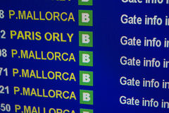 Fly to Mallorca. Stock Images