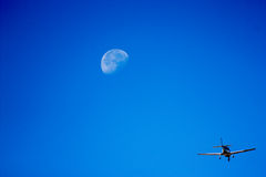 Fly to the moon Royalty Free Stock Photography