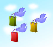 Fly to shop Stock Photography