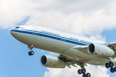 Fly to the sky jetliner Stock Photo