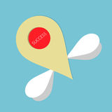 Fly to success point. Vector illustration Royalty Free Stock Photo