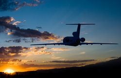 Fly to sunrise Royalty Free Stock Image