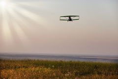 Fly to sunset Royalty Free Stock Photography