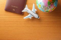 Fly to travel around the world Stock Photo