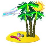Fly to tropic vacation Stock Photography
