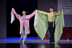 Fly together-Jiangxi OperaBlue coat Royalty Free Stock Photography