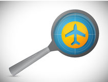 Fly tracker magnify illustration design Royalty Free Stock Photos
