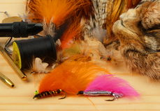 Fly tying Royalty Free Stock Photos